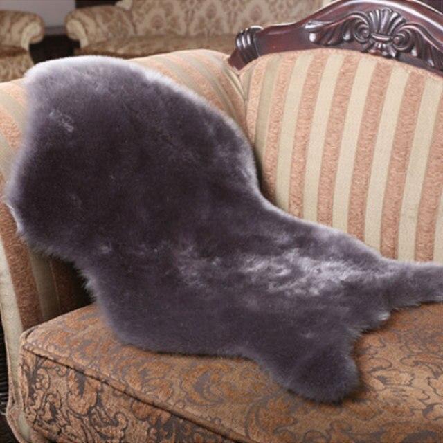 Faux Wool Sheepskin Rug Chair Cover Fur