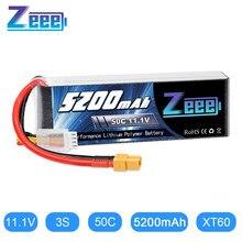 Zeee – batterie Lipo 3S, 11.1V, 50c, 5200mAh, prise XT60, pour voiture, hélicoptère, bateau, avion RC