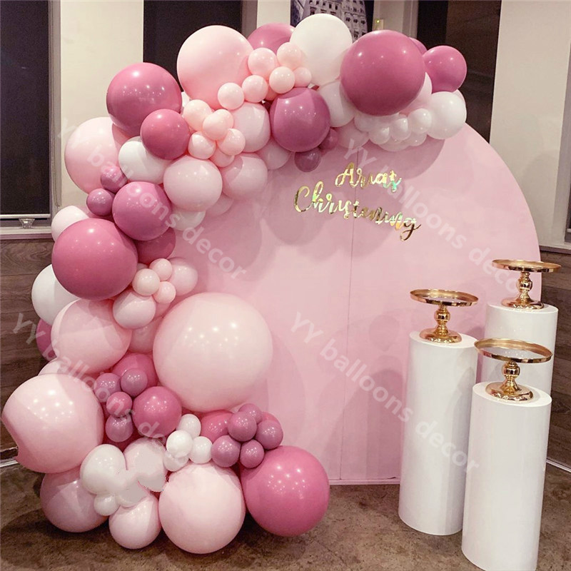 DIY Global Garland <font><b>1</b></font> Kit Retro Peach Pink Globos for Kid Adult Baby Shower <font><b>Girl</b></font> <font><b>Birthday</b></font> Wedding Party <font><b>Decorations</b></font> image