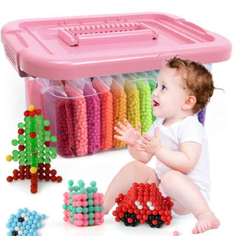 DIY Water Kralen Speelgoed voor Kinderen Magische Dier Mallen Set Kit Handgemaakte Kralen Puzzel Kids Educatief Jongen Meisje 3 5 7 9 11 jaar