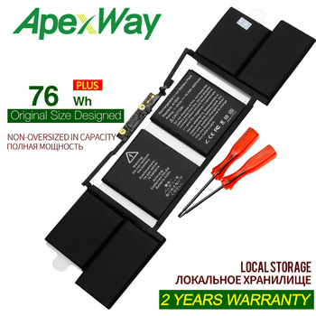 ApexWay New A1820 LAPTOP Battery For APPLE MACBOOK PRO 15 A1707 2016 2017 YEAER wholesale new laptop a1707 lcd led screen for macbook pro pro 15 4 a1707 lcd display screen panel late 2016 mid 2017 year