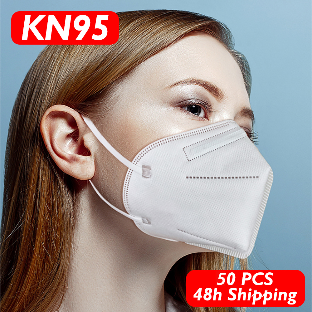 50pcs KN95 Face Mouth Mask Anti Virus Disposable Protect Mask 4 Layers Filter Dustproof Non Woven Mouth Masks Fast Shipping