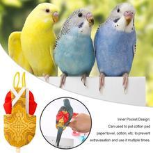 Попугай питомец Хохлатая Myna Crested Myna Универсальный Летающий костюм птица пеленки попугаи петухи голуби одежда XS-L Размер