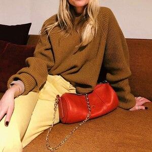 2020 новая подушка сумка цилиндрическая сумка с цепью на одно плечо кожаная женская сумка модная женская сумка для отдыха