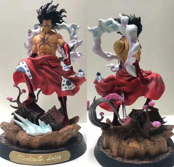 NEW Anime One Piece Luffy Gear 4 Snakeman kimono GK Statue PVC Action Figure Collectible Model Toys Doll gift for Christmas 37cm