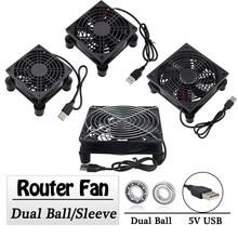 Gdstime 5V USB Router Fan 80mm 92mm 120mm 140mm DIY TV Box Ball/Sleeve Cooler W/Controller & Protective Net Desktop Cooling Fan