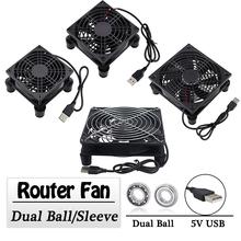 Gdstime 5V USB Router wentylator 80mm 92mm 120mm 140mm DIY TV pudełko piłka rękaw chłodnicy W kontroler i siatka ochronna wentylator chłodzący na biurko tanie tanio CN (pochodzenie) Komputer przypadku Common Rohs Dwa Łożyska Kulkowe 50000 godzin Nie RPM 2 Linie 2PIN GDA 80 92 120 140mm Router Fan