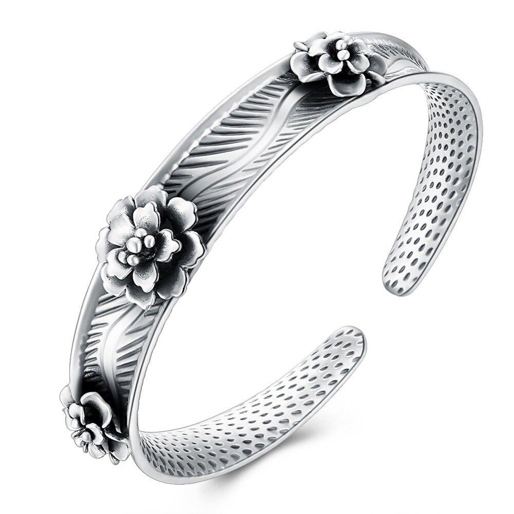 VC99 classique fleur 925 en argent Sterling brin Bracelet pour les femmes bijoux de fiançailles
