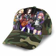 Chapeau à la mode, casquette de l'armée de la marine, noir, gris, bande Bandori, Kawaii, Waifu, Otaku, mazurokka, Chu2