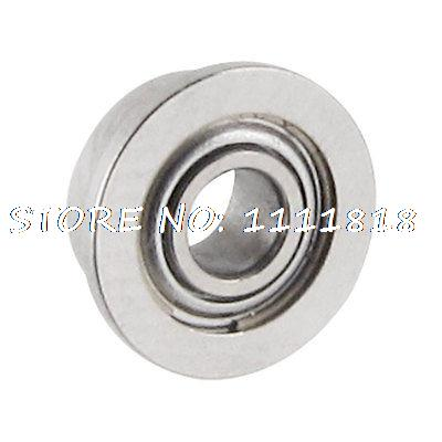 Silver Tone Sealed Flanged Ball Bearing 2mm X 5mm X 2.3mm