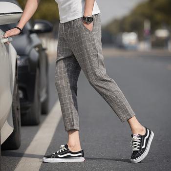 2020 dorywczo kostki spodnie w kratę męskie spodnie joggery hip-hopowe spodnie męskie spodnie dresowe Streetwear męskie spodnie spodnie Dropshipping tanie i dobre opinie VOLGINS Harem spodnie Mieszkanie Poliester NONE REGULAR Pełnej długości Na co dzień Midweight Suknem Kostki długości spodnie