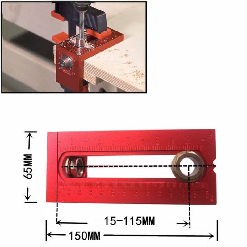 Woodworking Joinery Kit Drill Bits Set 6/8/10/12/15mm Flat Head Cross Oblique Screw Hole Puncher Locator Guide Locator Jig