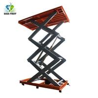 Superior Quality With CE Cargo Lift Table Heavy Duty Stationary Scissor Lift Platform