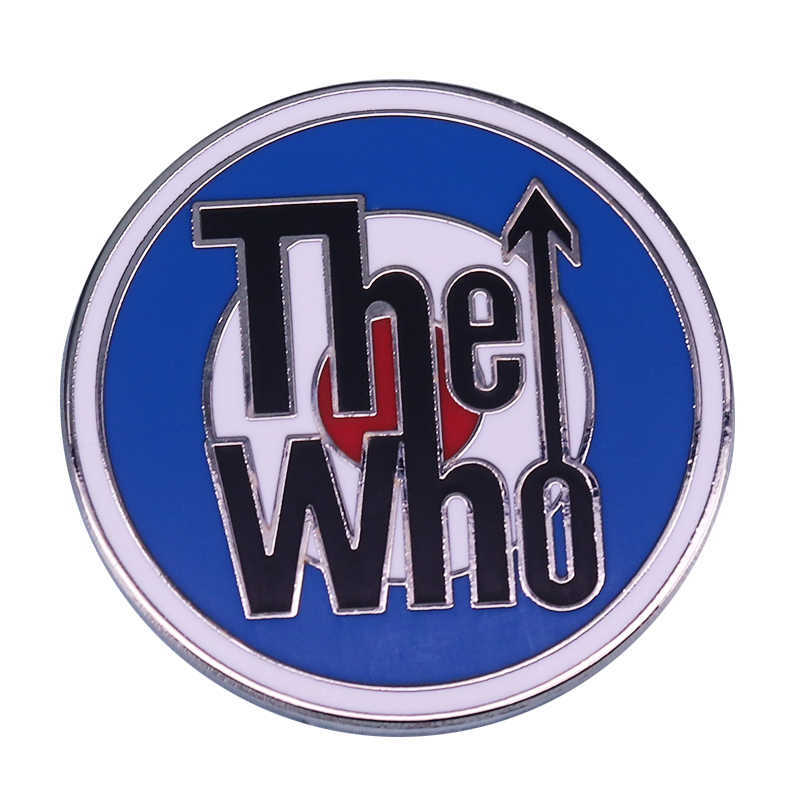 Rock band The Who pin vintage music fan art collection