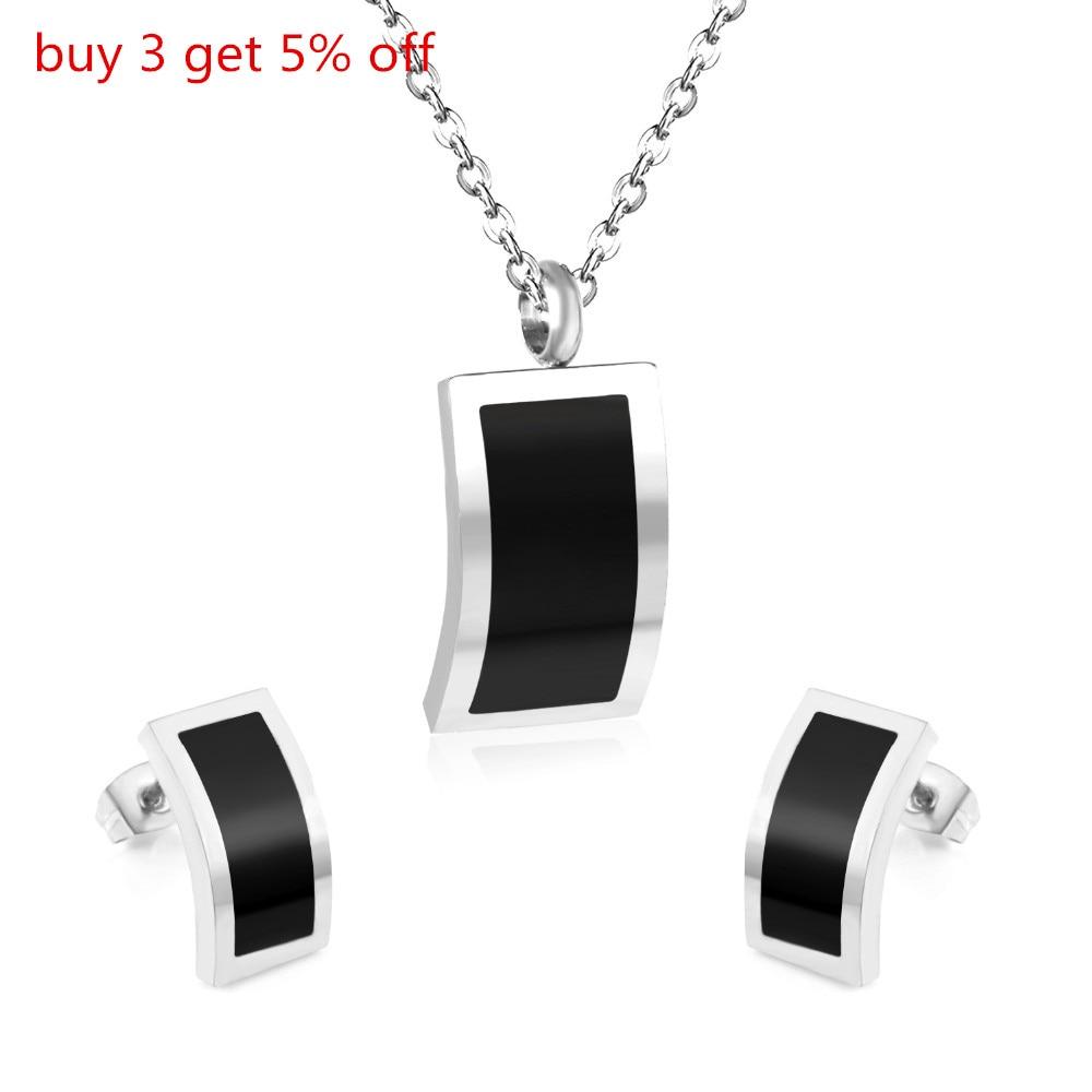 LUXUKISSKIDS Stainless Steel Black Shell Butterfly Jewellery Sets Necklace Earrings Wedding Bridal Dubai Jewelry Sets For Women 2