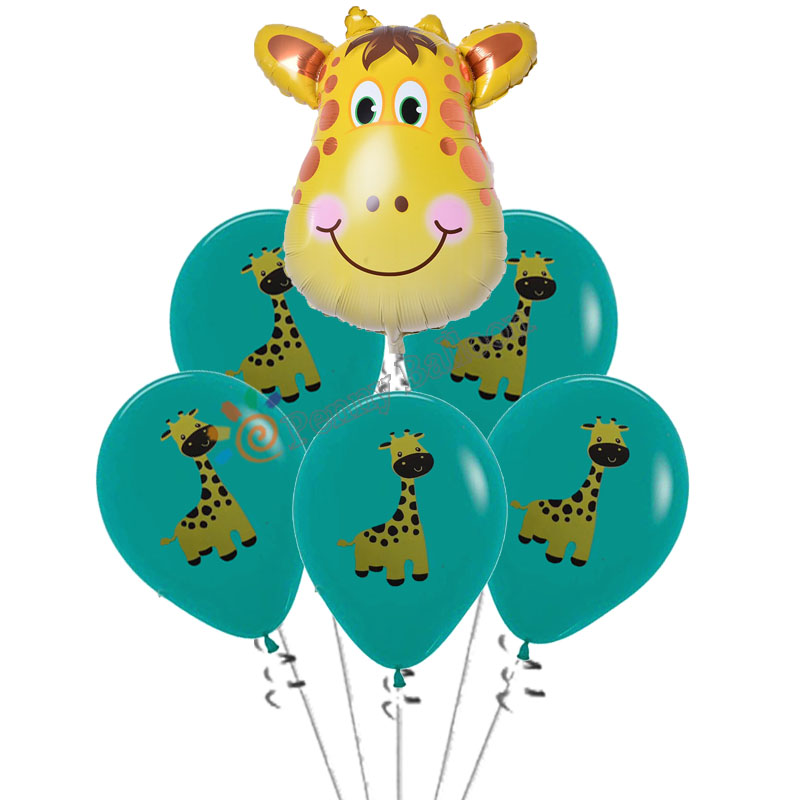 16pcs TIger Cow Print Animals Latex Balloons Birthday Party Decor Farm