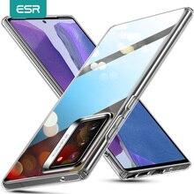 ESR نوت 20 حافظة فائقة من الزجاج المقسى لهاتف سامسونج جالاكسي نوت 20 10 Plus S20 حافظة فائقة النقاء لهاتف سامسونج نوت 9 10 5G S9