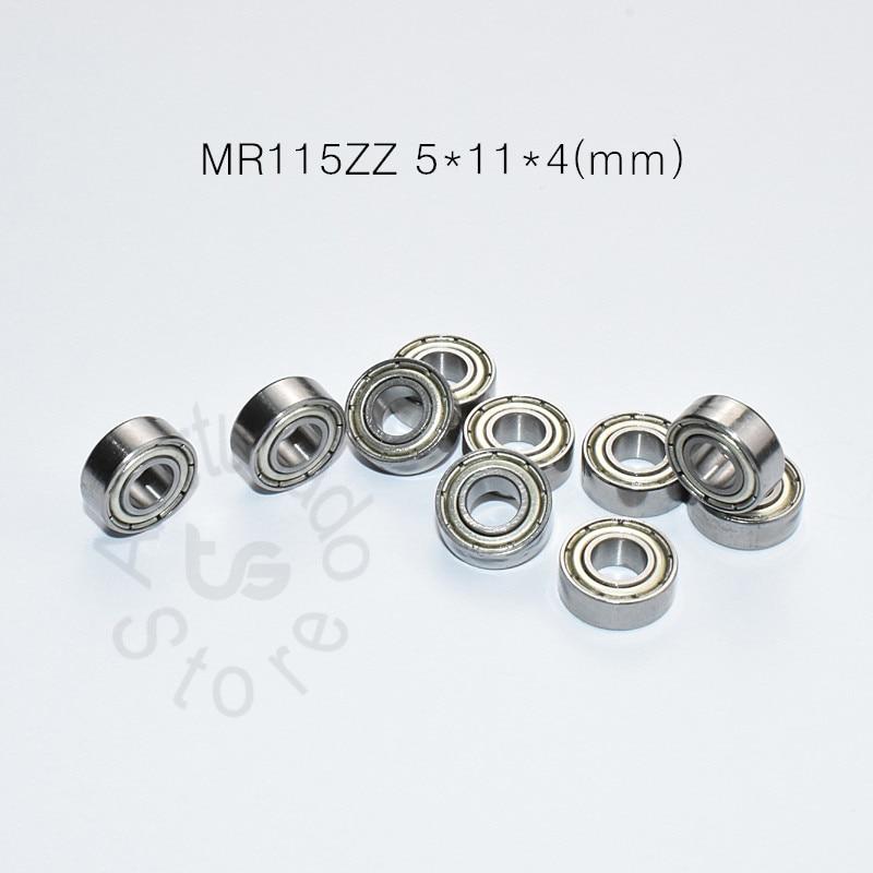 MR115ZZ 5*11*4(mm) 10piecesfree Shipping Bearing ABEC-5 Metal Sealed Miniature Mini Bearing MR115ZZ MR115 Chrome Steel Bearings