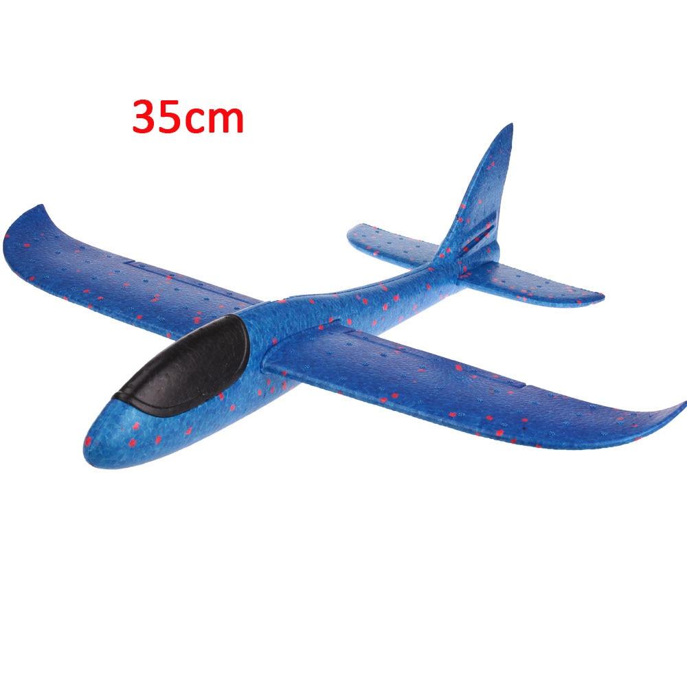 Детские игрушки «сделай сам» самолет из пеноматериала ручной бросок самолет Летающий планер самолет вертолеты летающие модели самолетов самолет игрушка для детей игры на открытом воздухе - Цвет: 35cm-Blue