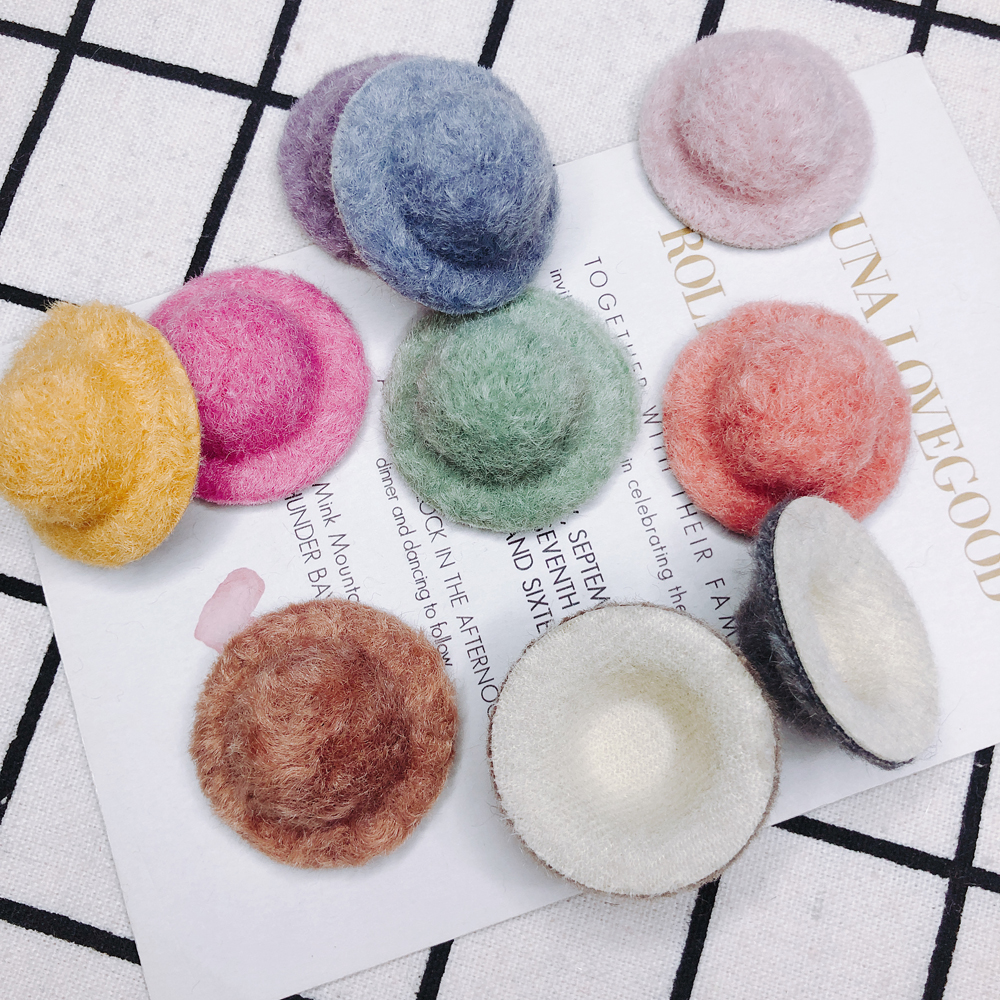 10 Pieces / Fall / Winter Flannel Color Hat Shape Earrings Hair Accessories Other Accessories Other