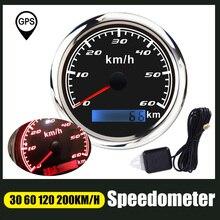 Одометр 85 мм с красной подсветкой, GPS, Спидометр 30 60 120 200 км/ч