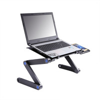 Multifunctional Portable Sofa Laptop Table Ergonomic Mobile Laptop Table Stand For Bed Foldable Notebook Desk With Mouse Pad