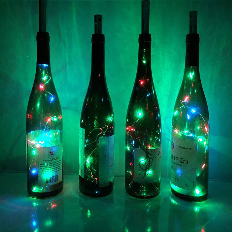 HiMISS  2M 20 LEDs Fairy String Wine Bottle Wine Cork String Diode Tape Lamp Neon Light Home Bar Party Wedding Decoration