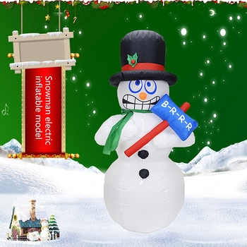PHFU-New 1.8M Giant Inflatable Jitter Snowman Blows Up Fancy Toys Santa Claus Christmas Festive Event Stage Props Gifts Party Dé фото