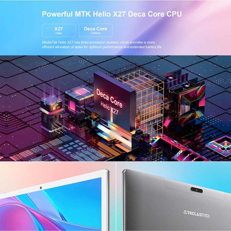 Teclast M30 4GB + 128GB Tablet 10.1 inch 2560x1600 MT6797X X27 10 Core Android 8.0 PC Dual 4G WIFI Network Tablets 2