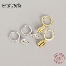 OBEAR New Arrival 100% 925 Sterling Silver Shell Pendant Stud Earrings for Women  Fashion Jewelry
