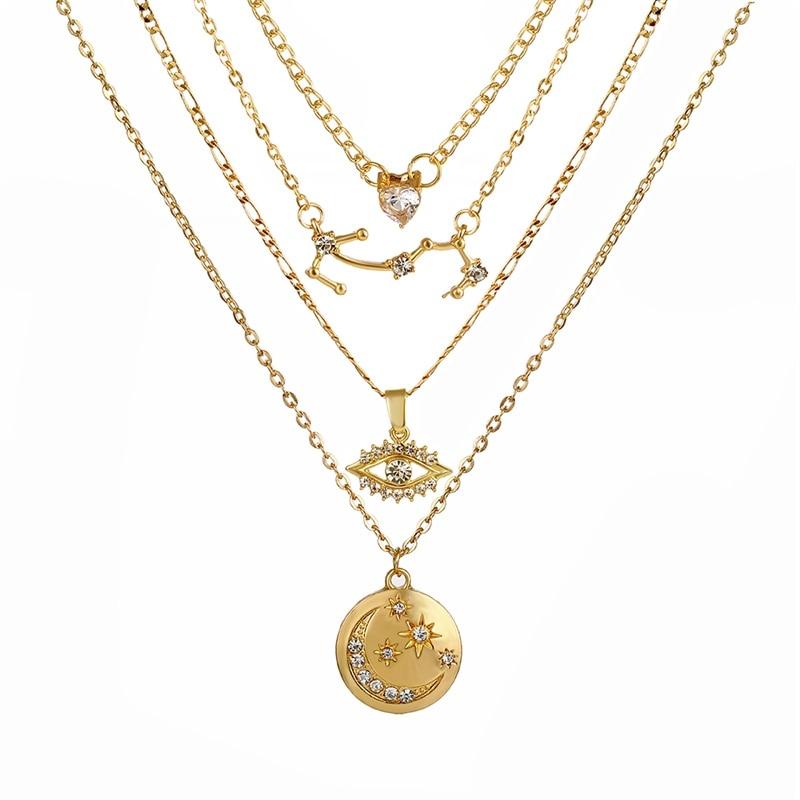 VKME модное жемчужное ожерелье с двойным слоем Love аксессуары Женское Ожерелье Bijoux подарки - Окраска металла: ZL0001042