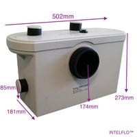 600W smart macerating pump waste water lift use behind of the toilet