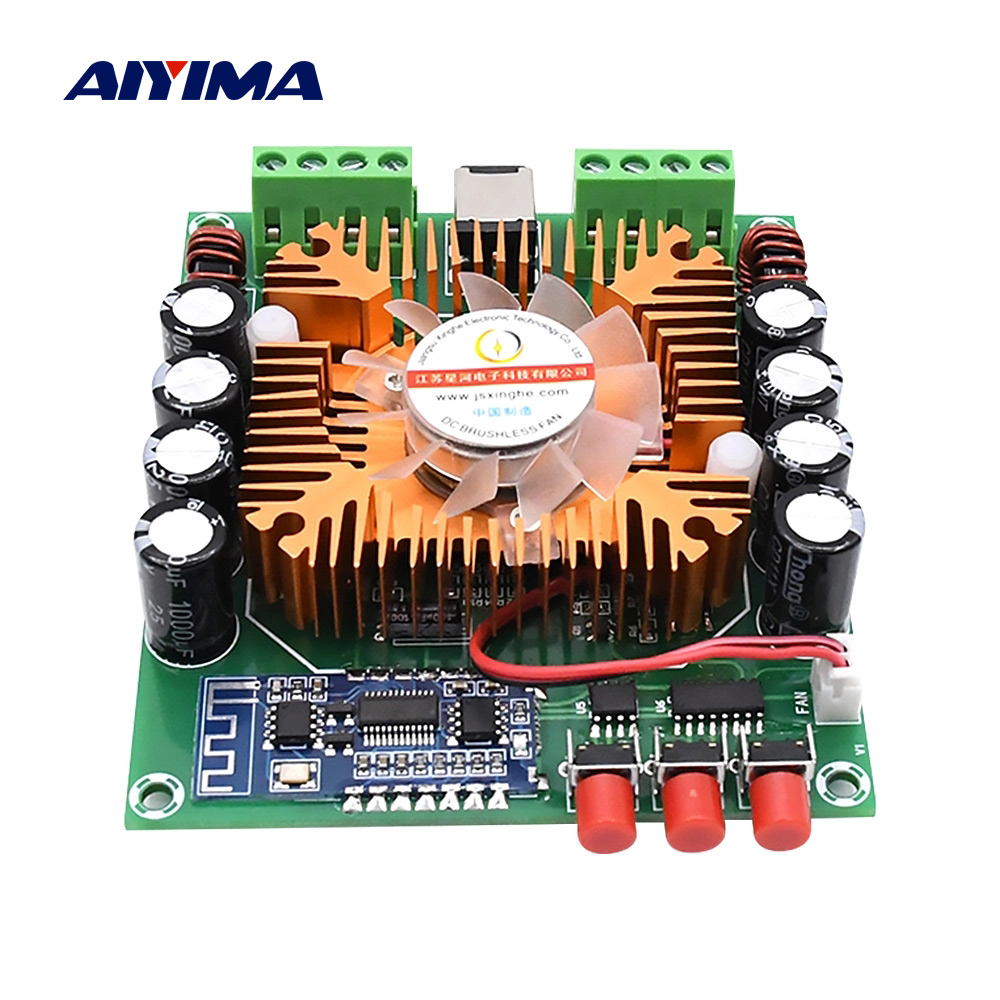 AIYIMA Bluetooth 5.0 Power Amplifier Audio Board 4x50W TDA7850 Class AB HiFi Stereo Amplifier Home Theater BTL Speaker Mini Amp