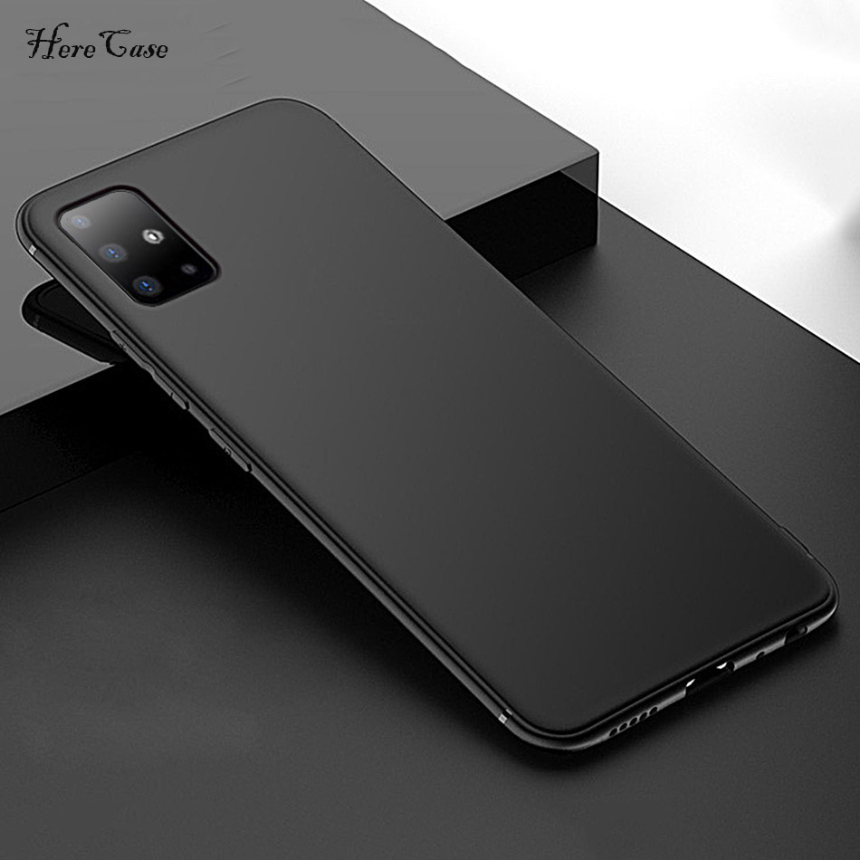 Silicone Case For Samsung Galaxy A51 A71 Shockproof TPU Frosted Cover For Samsung A51 Case Anti-Fingerprint A50 A70 2019 A 51 image