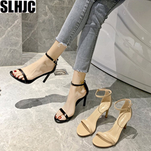 SLHJC Women Sandals High Stiletto Heels Leather Pumps Shoes