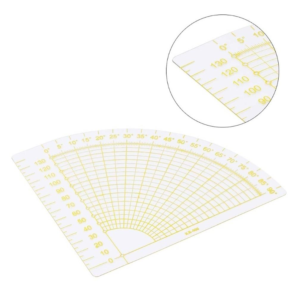 Circle Fan Patchwork Quilting Seam Ruler Tailor Tool For Drawing Sewing Cutting 16cm X 16cm