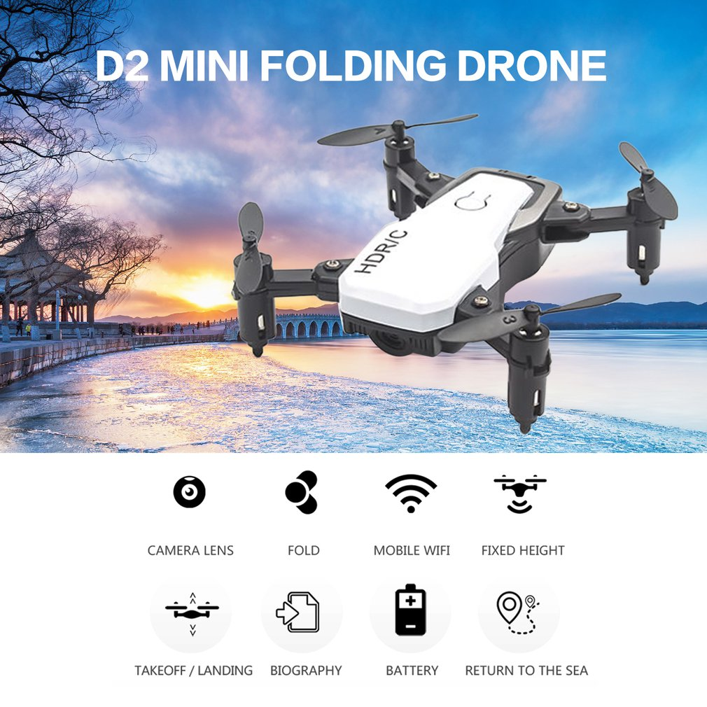 D2 Mini Folding Drone Remote Control Aircraft Without Camera High Hold Mode Foldable Arm RC Helicopter|RC Helicopters| |  - title=