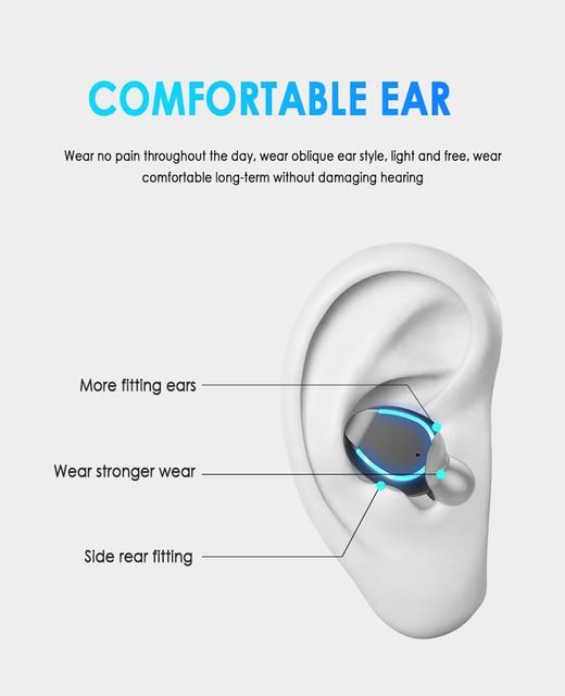 Mini Earphone Bluetooth 5.0 F9-5 TWS True Wireless Bluetooth Earphone LED Display Breathing Light2000mAh Power Bank Headset 3
