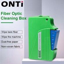 Ontiファイバ端面クリーニングボックス繊維拭くツールピグテールクリーナーカセットftth視覚繊維クリーナーツールsc/st/fc