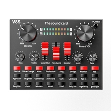 Bluetooth Professional Live Streaming Sound Card USB Audio Interface Mixer DJ Sound for Recording Microphone Guitar