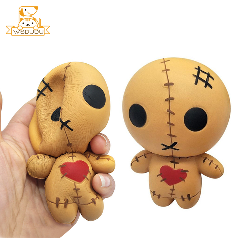 Ghost Doll Cute Terror Puppets Horror Cartoon Anime Figure Decompression Anti Stress Relief Soft Squishy Squeeze Toys Adult Gift
