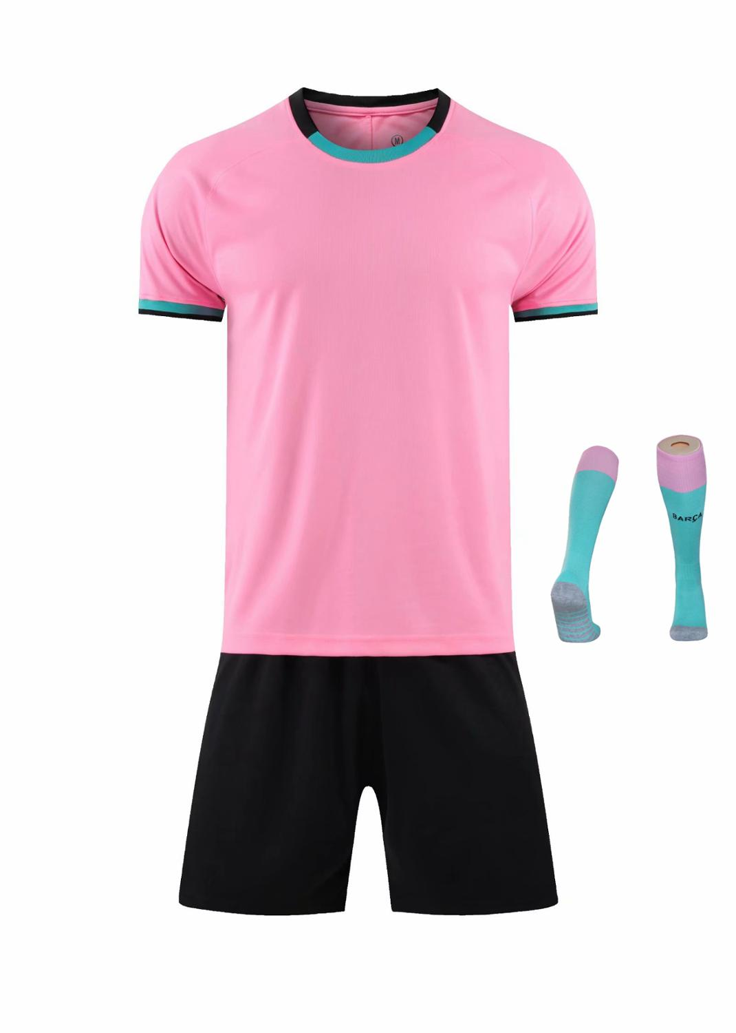 Children Sets football uniforms boys and girls sports kids youth training suits blank custom print soccer set with socks 23
