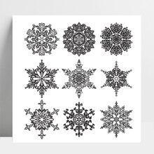 AZSG Different Beautiful Snowflake For DIY Scrapbooking/Card Making/Album Decorative Silicone Stamp Crafts