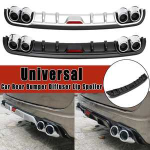 Universal Car Rear Bumper Diffuser Lip spoiler Canard Black ABS Plastic Car-Styling Rear Bumper Lip Diffuser spoiler Canard 1pcs