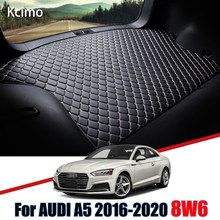 Tapis de coffre de voiture en cuir, pour Audi A5 8W6 2016 2017 2018 2019 2020