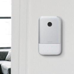 Tuya Smart Key Lock Box Fingeprint безопасный Bluetooth беспроводной сетевой пароль из алюминиевого сплава замок для хранения ключей Всепогодный