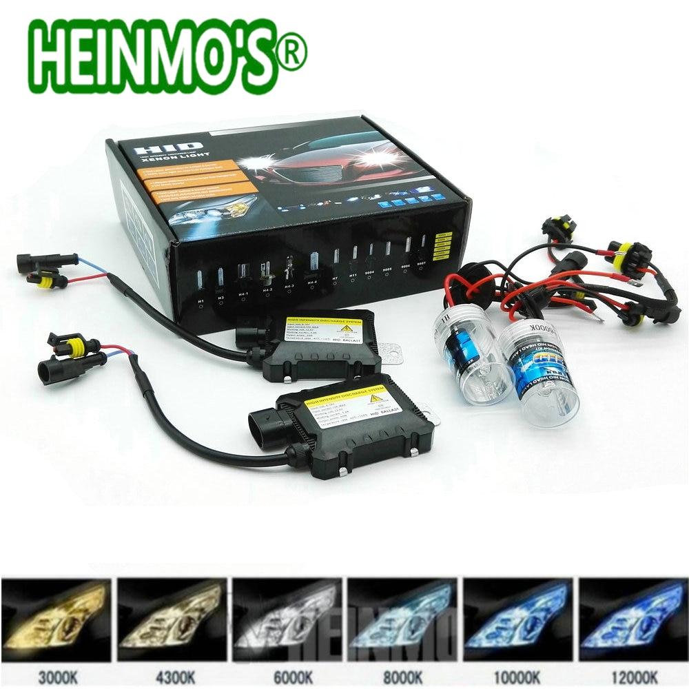 55W Xenon H7 Car Xenon H4 High Low Headlight HID Lamp H1 H3 H11 9006 9005 880 Conversion Kit Headlamp H8 H9 4300k 6000k 8000K