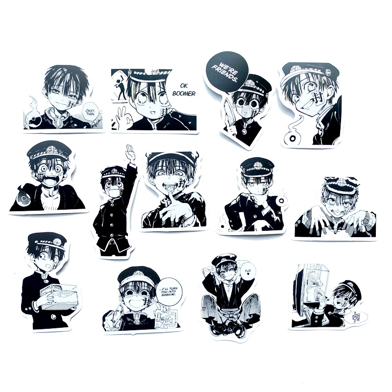 Hanako-kun, lote de 50 unidades, Anime, Manga calcomanías de cristal LD
