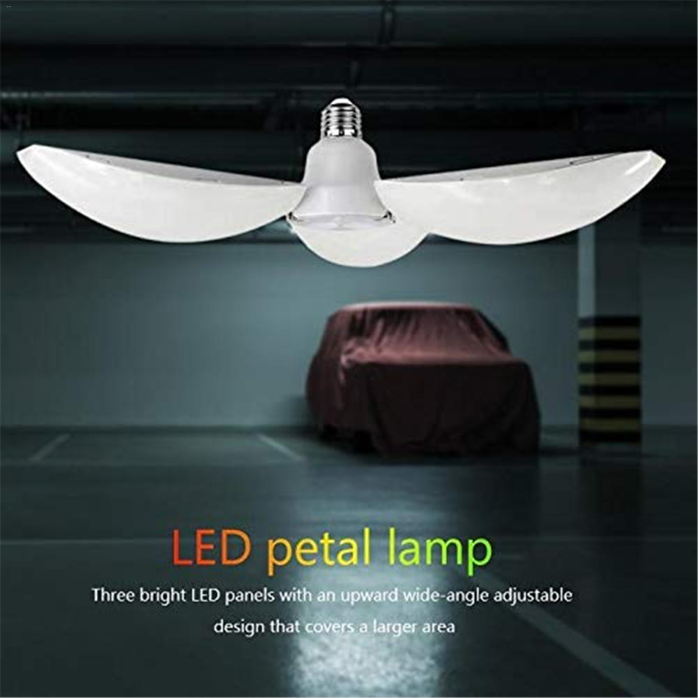60W E27/E26 LED Garage Light Bulb Garage Ceiling Lamp With Adjustable Panels Deformable Working Light Bulbs For Warehouse/Baseme