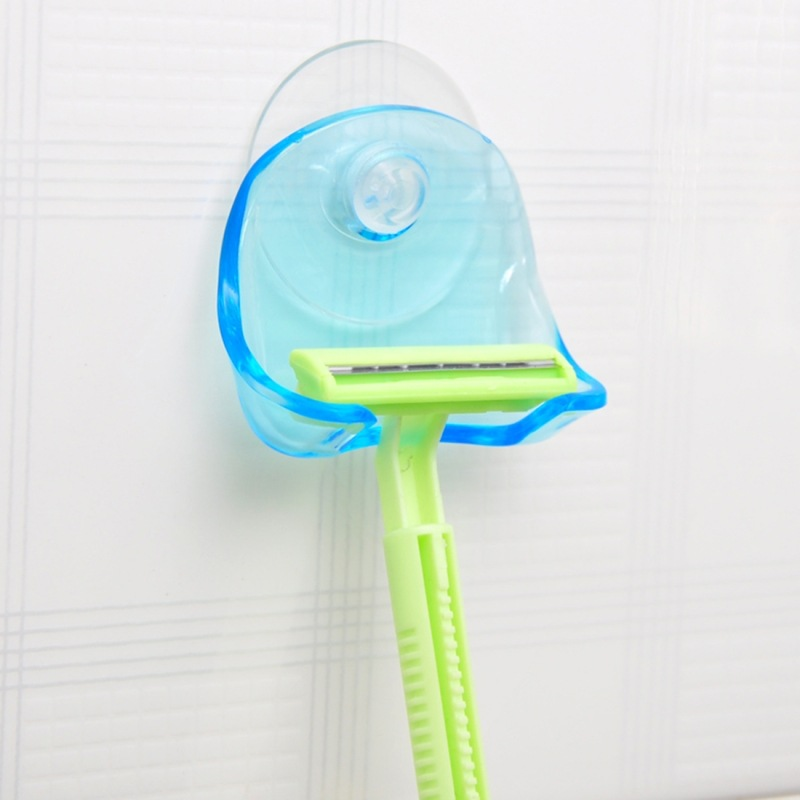Razor Toothbrush Holder Toilet Wall Suction Cup Hook Razor Bathroom